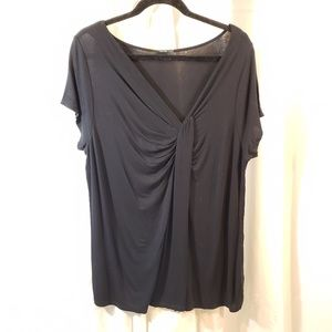 Tahari 16 18w tunic length slinky knit LLN top sho